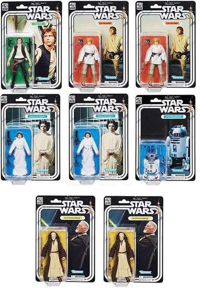 Hasbro Star Wars Black Series 40th Anniversary Wave 1 Case of 8