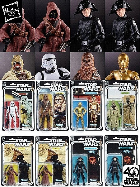 Hasbro Star Wars 40th Anniversary Black Series Wave 21 Case of 8