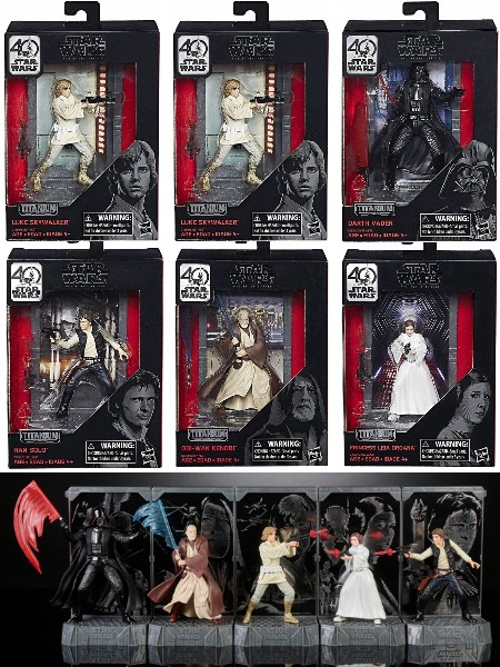 Hasbro Star Wars 40th Anniversary Die Cast Figures Wave 1 Case