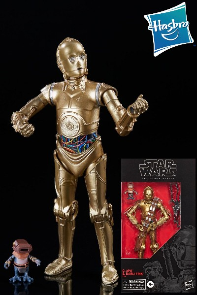 Hasbro Star Wars Black Series C-3PO and Babu Frik 6 Inch Figure