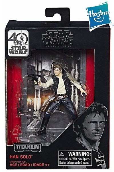 Hasbro Star Wars Black Series Titanium Han Solo Die Cast Figure