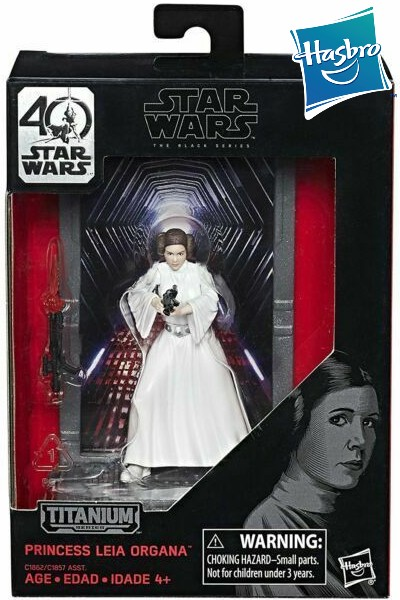 Hasbro Star Wars Black Series Titanium Leia Die Cast Figure