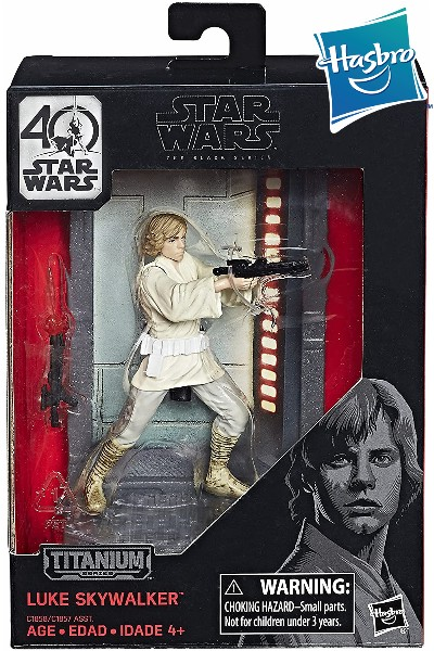 Hasbro Star Wars Black Series Titanium Luke Die Cast Figure