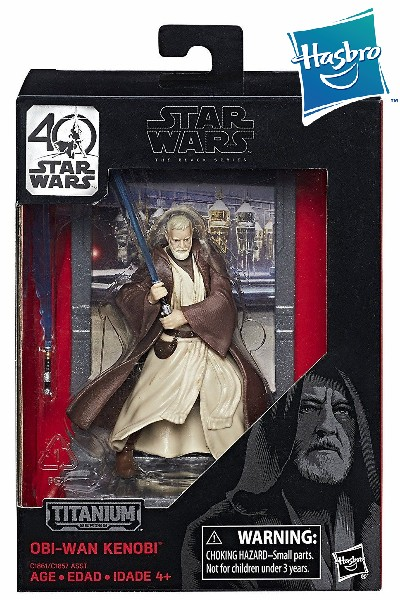 Hasbro Star Wars Black Series Titanium Obi-Wan Die Cast Figure