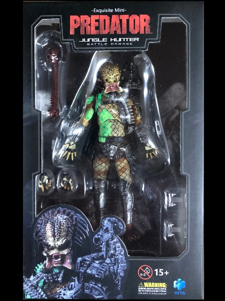 Hiya Toys Predator Battle Damage Jungle Hunter Predator Figure