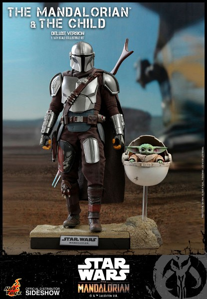 Preorder Hot Toys Star Wars Mandalorian & Child Deluxe Figure