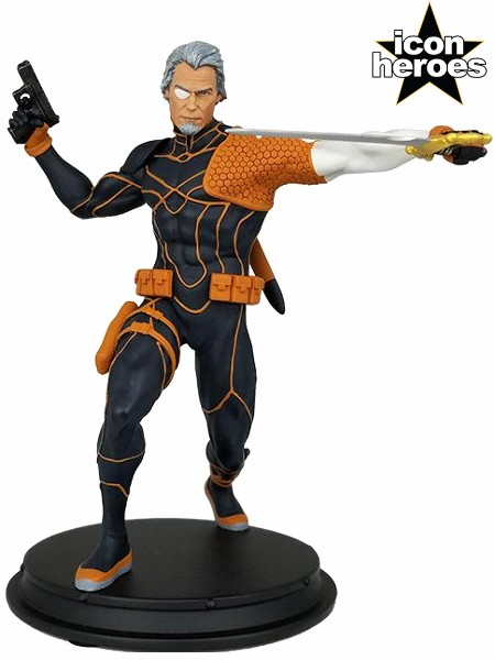 Icon Heroes DC Comics Deathstroke Rebirth Unmasked Statue