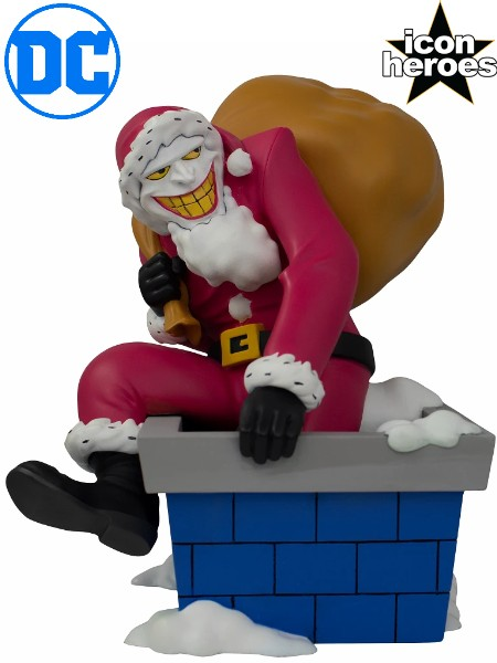 Icon Heroes DC Comics The Joker Santa Statue Exclusive