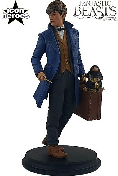 Icon Heroes Fantastic Beasts Newt Scamander with Niffler Statue