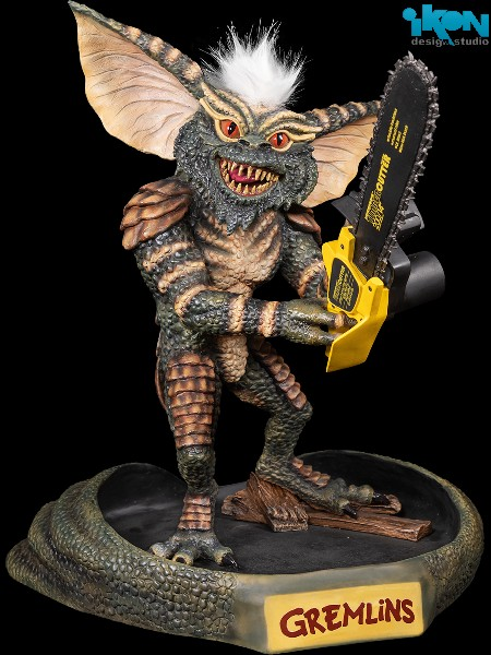 Preorder Ikon Design Studio Gremlins Stripe with Chainsaw Statue