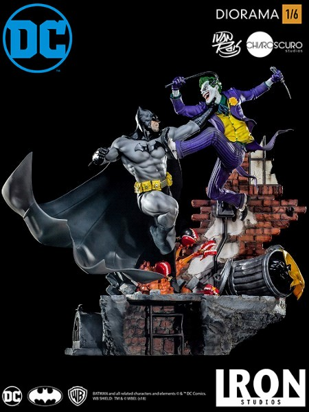 Iron Studios DC Batman v The Joker Ivan Reis Sixth Scale Diorama