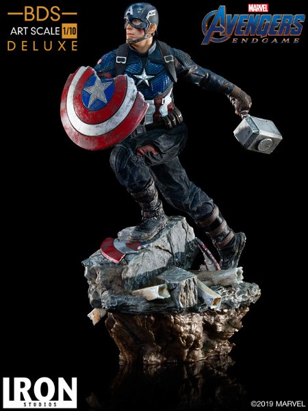 Preorder Iron Studios Marvel Captain America Deluxe Art Scale