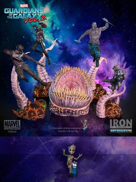 Iron Studios Marvel Guardians of the Galaxy Vol 2 Diorama Set