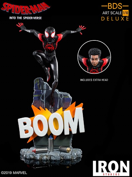 Preorder Iron Studios Marvel Miles Morales Art Scale Statue