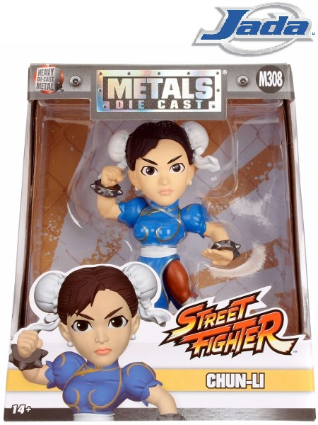 Jada Street Fighter Chun-Li Metals Die Cast Figure