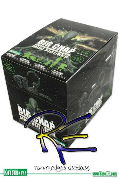 Kotobukiya Alien Big Chap Mini Figures Counter Box of 12 Figures