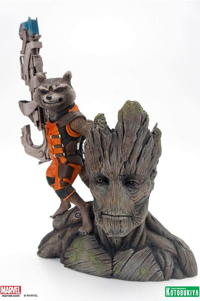 Kotobukiya Marvel GOTG Rocket and Groot ARTFX+ PVC Statue
