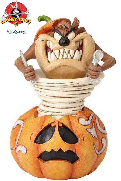 Looney Tunes by Jim Shore Taz-o-Lantern Halloween Taz Statue