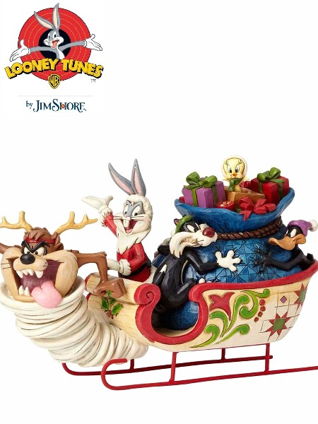Looney Tunes by Jim Shore Looney Tunes Sleigh Ride Statue