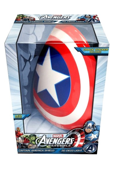 3D Light FX Marvel Captain America Shield 3D Wall Nightlight