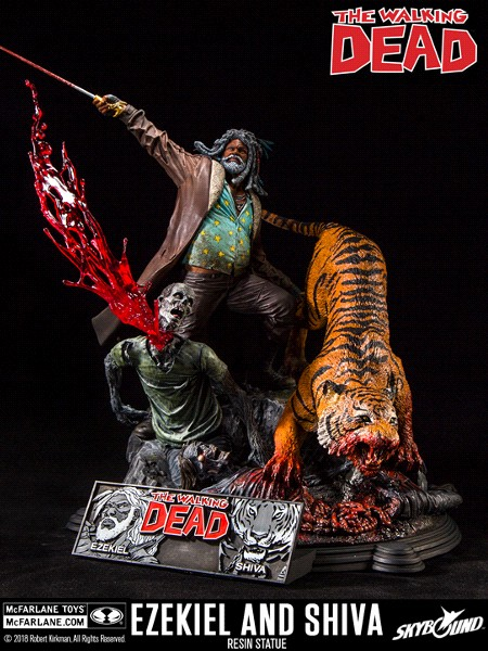 McFarlane The Walking Dead Ezekiel and Shiva Resin Statue