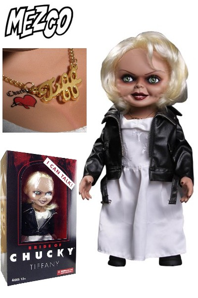 Mezco Bride of Chucky Mega Scale Talking Tiffany 15 Inch Doll