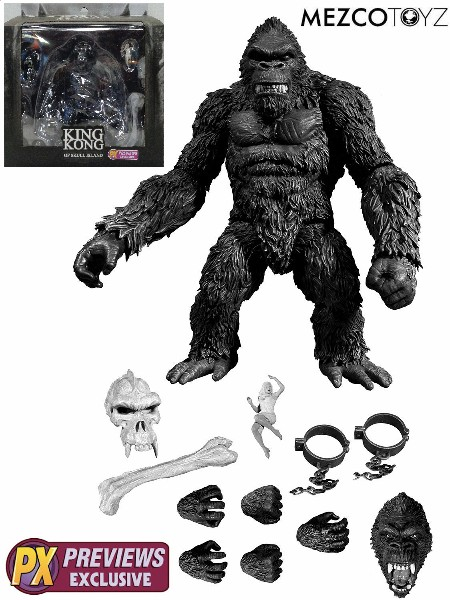 Mezco King Kong of Skull Island Black and White Exclusive Figure