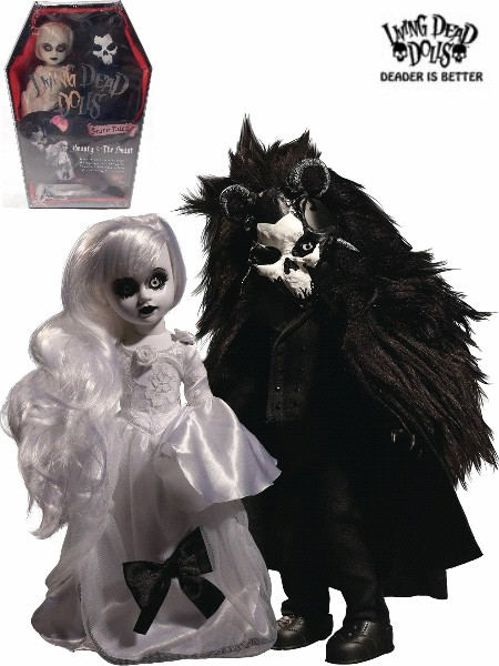 Mezco Living Dead Dolls Scary Tales Beauty and the Beast Dolls