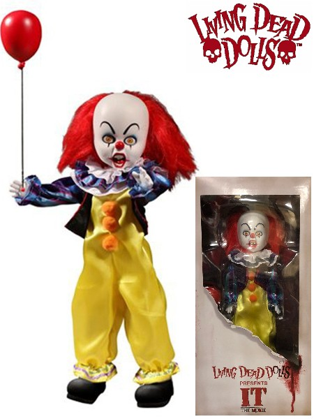 Mezco Living Dead Dolls Presents IT 1990 Pennywise Doll