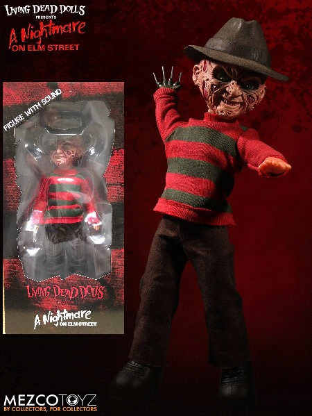 Mezco Living Dead Dolls Presents Talking Freddy Krueger Doll