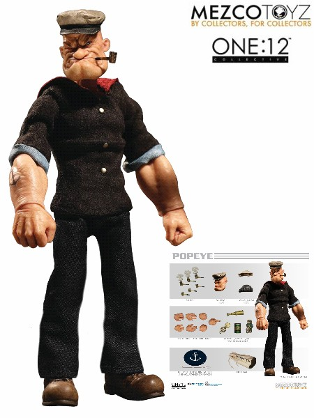 One 12 Collective Popeye 6 Inch Scale Figure