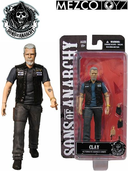 MEZCO SONS OF ANARCHY 6 INCH CLAY MORROW ACTION FIGURE