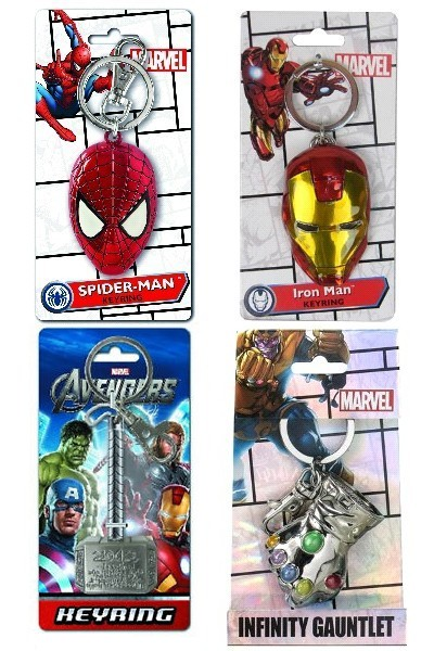 Monogram Marvel Avengers Superhero Pewter Keyring Set of 4 V3