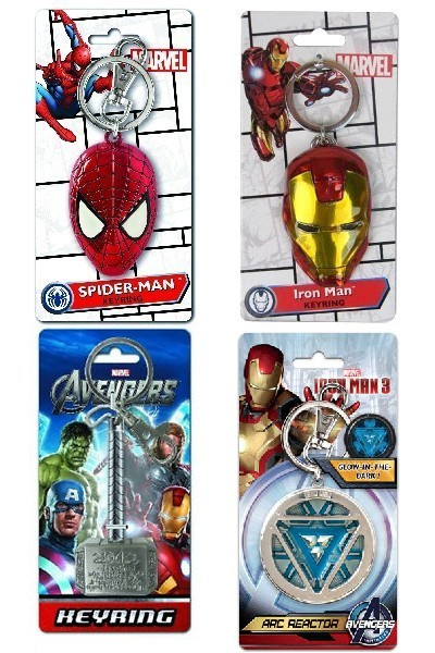 Monogram Marvel Avengers Superhero Pewter Keyring Set of 4 V4