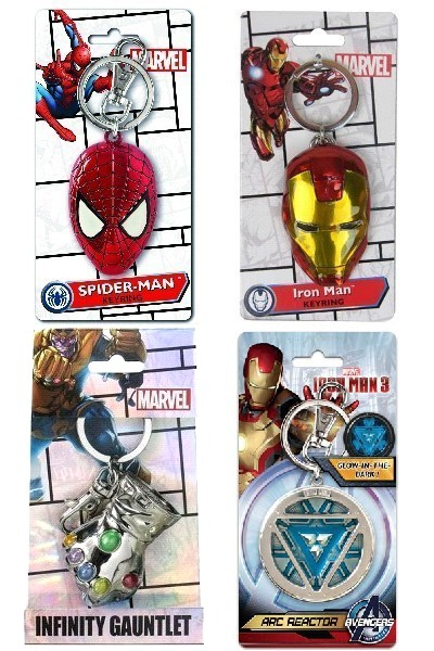 Monogram Marvel Avengers Superhero Pewter Keyring Set of 4 V5