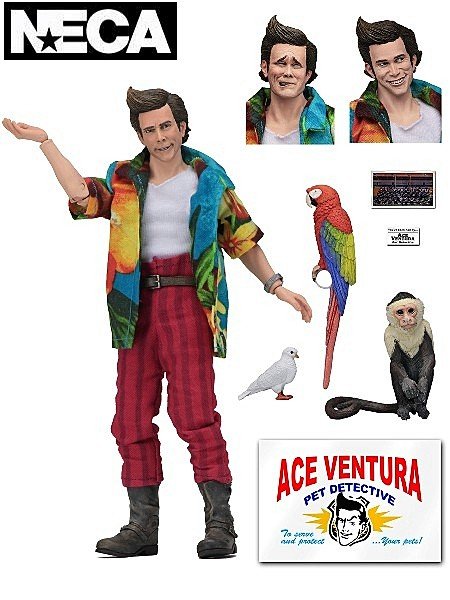 Neca Ace Ventura Pet Detective 8 Inch Clothed Action Figure