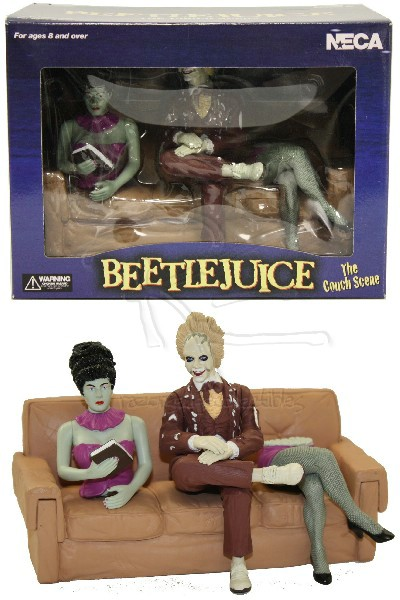 Neca Beetlejuice The Couch Scene 4 Piece Diorama Set