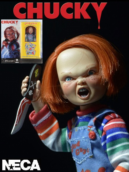 Neca Child's Play Chucky Clothed Retro Style Action Figure