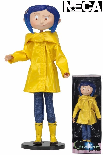 Neca Coraline in Rain Coat 7 Inch Bendy Fashion Doll