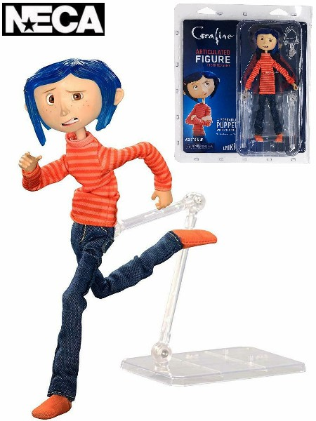 Neca Coraline in Striped Shirt and Jeans Articulated Figure