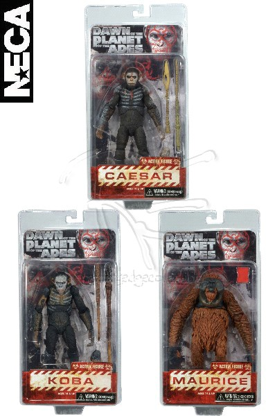 Neca Dawn of the Planet of the Apes Series 1 Action Figure Set