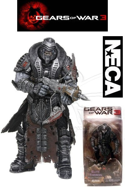 Neca Gears of War 3 Onyx Elite Theron SDCC Exclusive Figure