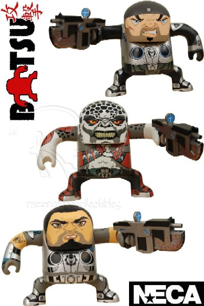 Neca Gears of War BATSU Designer Vinyl Figure Set of 3