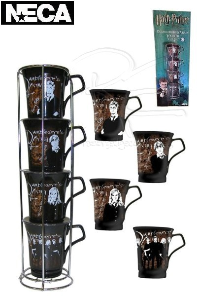 Neca Harry Potter Dumbledores Army Stackable Mug Set of 4