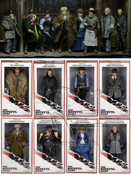 Neca The Hateful Eight Movie 8 Inch Action Figure Set of 8
