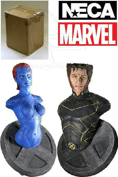 Neca Marvel X-Men Mystique and Wolverine Mini Bust Set