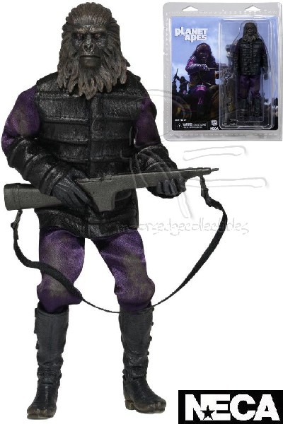 Neca Planet of the Apes Gorilla Soldier Clothed 8 Inch Figure