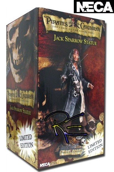 Neca Pirates of the Caribbean Jack Sparrow 18 Inch Resin Statue