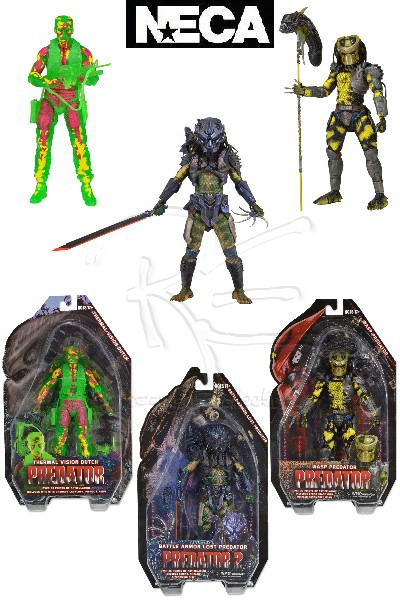 Neca Predators Series 11 Action Figure Set of 3