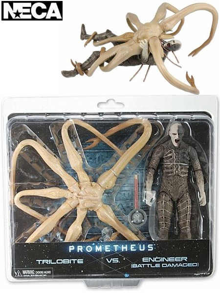Neca Prometheus Trilobite vs Battle Damaged Engineer 2 Pack